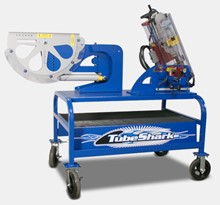 "TubeShark ""Shark Pool"" Combo Notcher and Bender on Utility Cart - Pneumatic Power Unit TSA-2-1-0006"